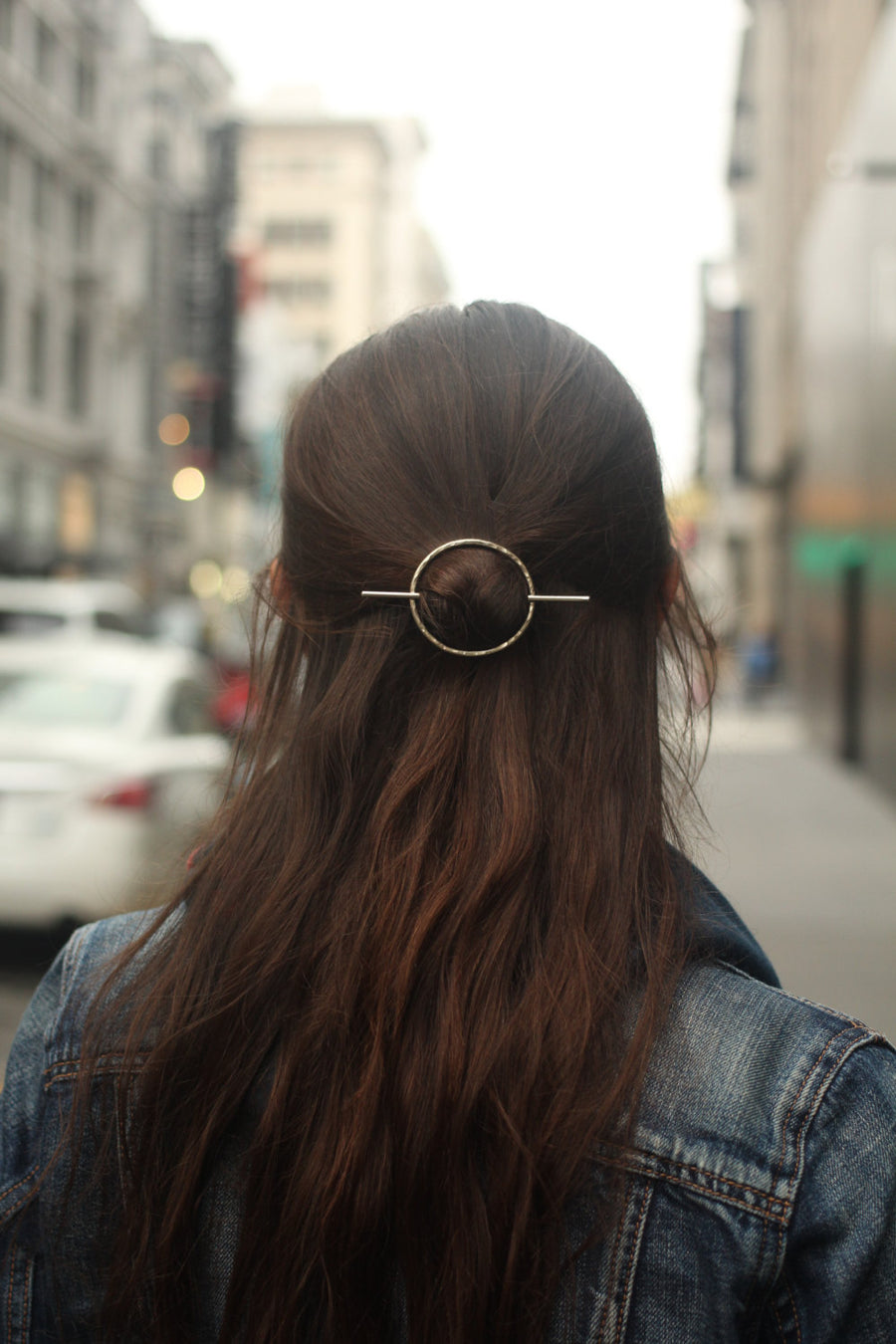 Circle and Bar Hairpin-Kapelika-Marisa Mason Jewelry