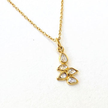Diamond Slice Cluster Necklace