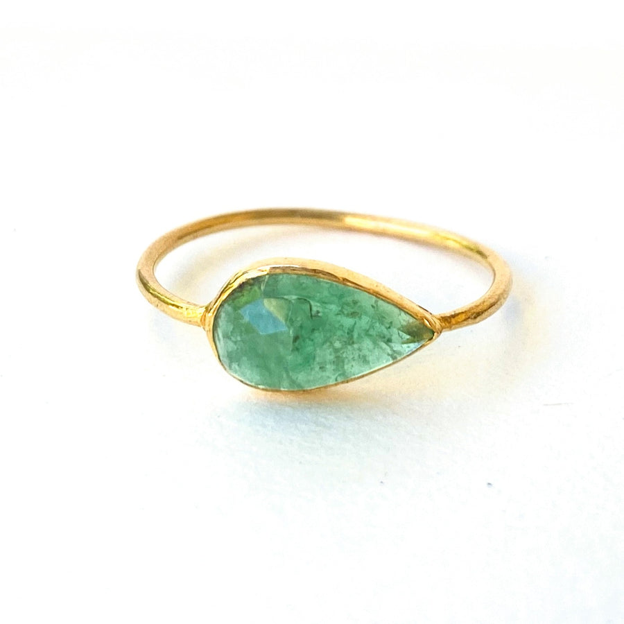 Zambian Emerald-Indian Gold-Marisa Mason Jewelry