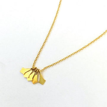Gold Shimmer Pendents Necklace