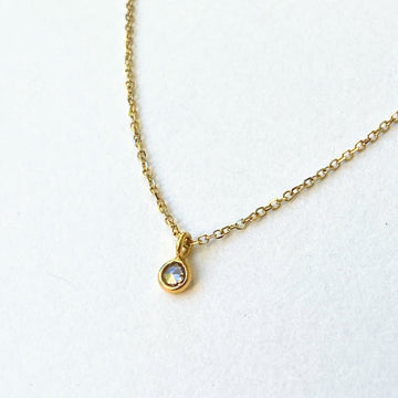 Mini Diamond On 14k Chain