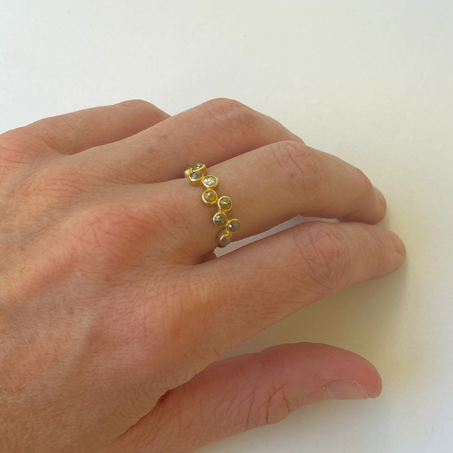Staggered Diamonds Ring