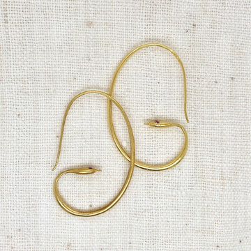 SNAKE HOOPS-Indian Gold-Marisa Mason Jewelry