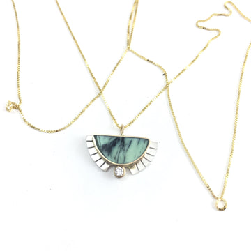 RISING SOL NECKLACE-Young In The Mountains-Marisa Mason Jewelry