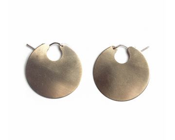 Silver Disc Hoops-Lila Rice-1.5