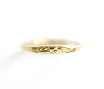 Petite Olive Branch Signet Ring