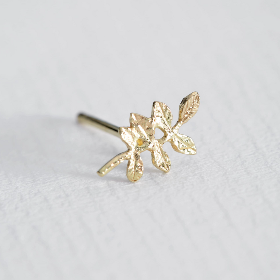 Verity Leaf Single Stud Earring