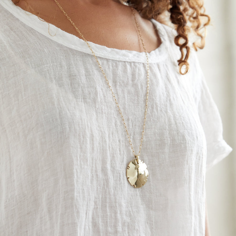 AUGUST Necklaces Brass on gold fill,Sterling silver Marisa Mason Jewelry