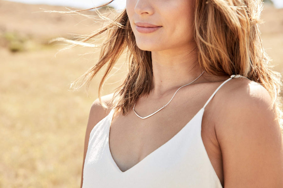 CANYONLANDS Necklaces Brass on gold fill,Sterling Silver on Silver Chain Marisa Mason Jewelry