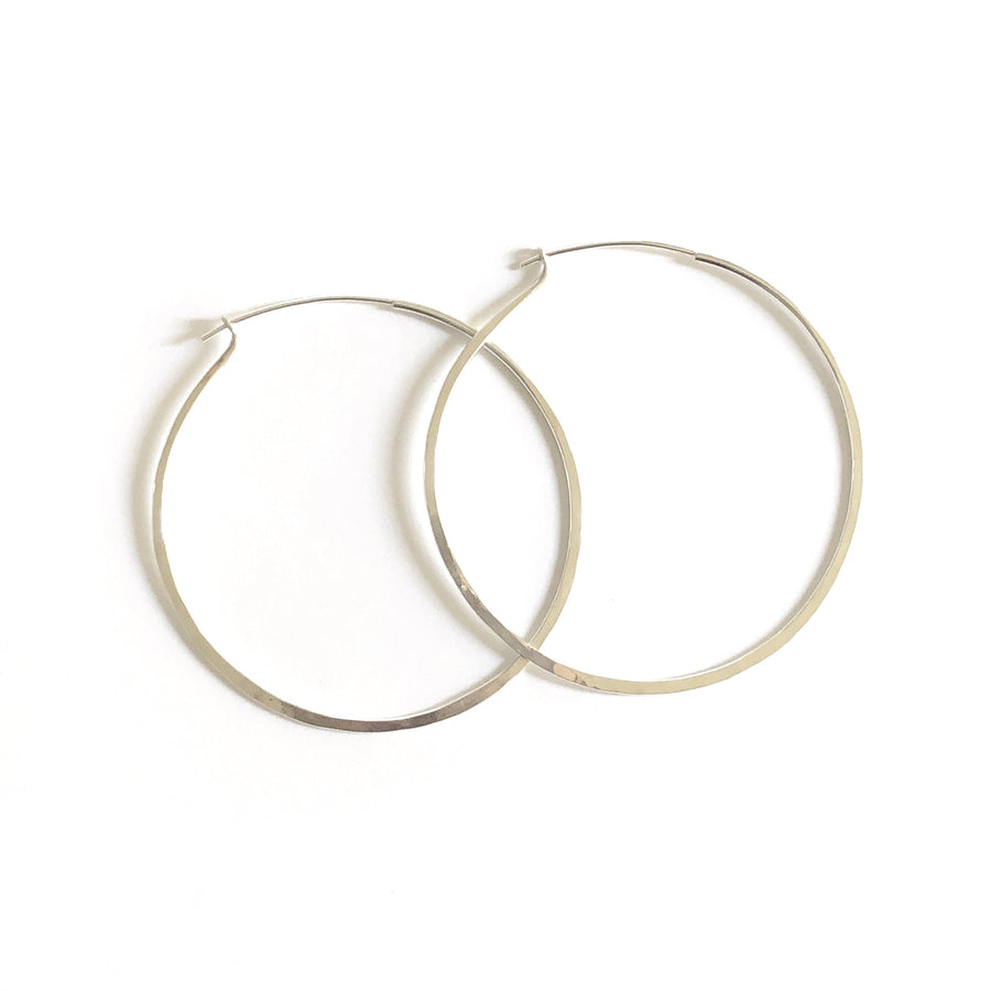 CLASSIC HOOPS Earrings Medium (1.5 inches) / Brass,Medium (1.5 inches) / Sterling silver,Large (2 inches) / Brass,Large (2 inches) / Sterling silver,Extra large (2.5 inches) / Brass,Extra large (2.5 inches) / Sterling silver Marisa Mason Jewelry
