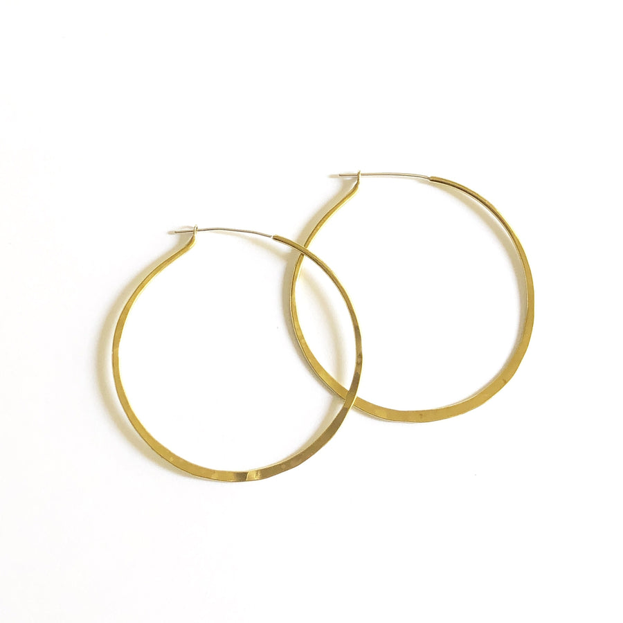 CLASSIC HOOPS Earrings Brass, Sterling Silver Marisa Mason Jewelry