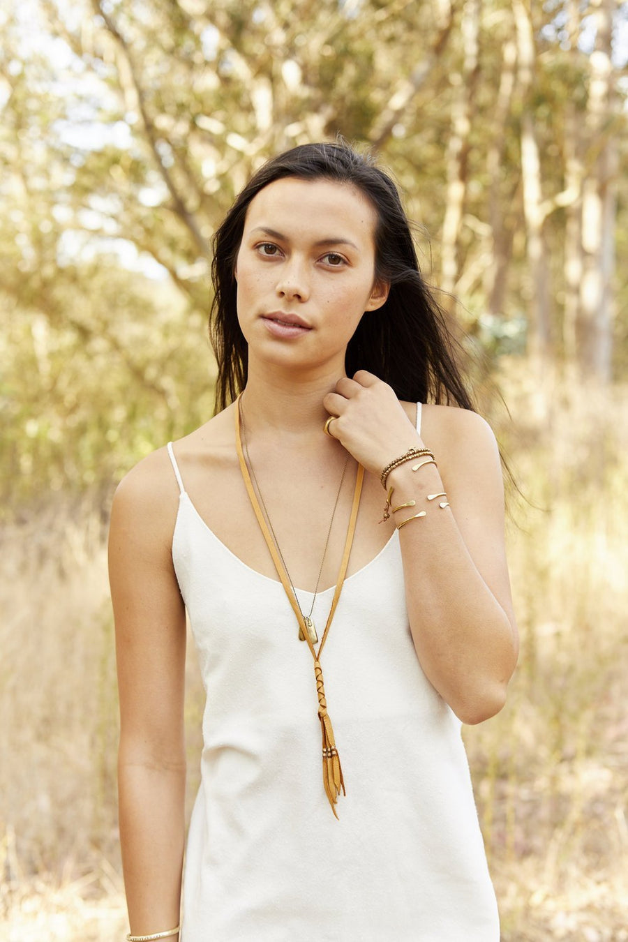 COLLINS Necklaces Black,Tan Marisa Mason Jewelry