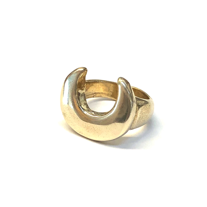 CRESCENT Rings Brass, Sterling Silver Marisa Mason Jewelry