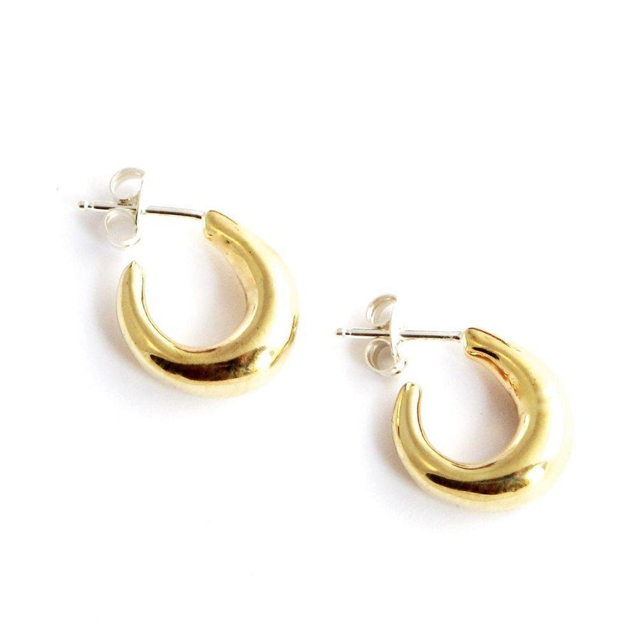 DELPHI Small Earrings Brass, Sterling Silver Marisa Mason Jewelry