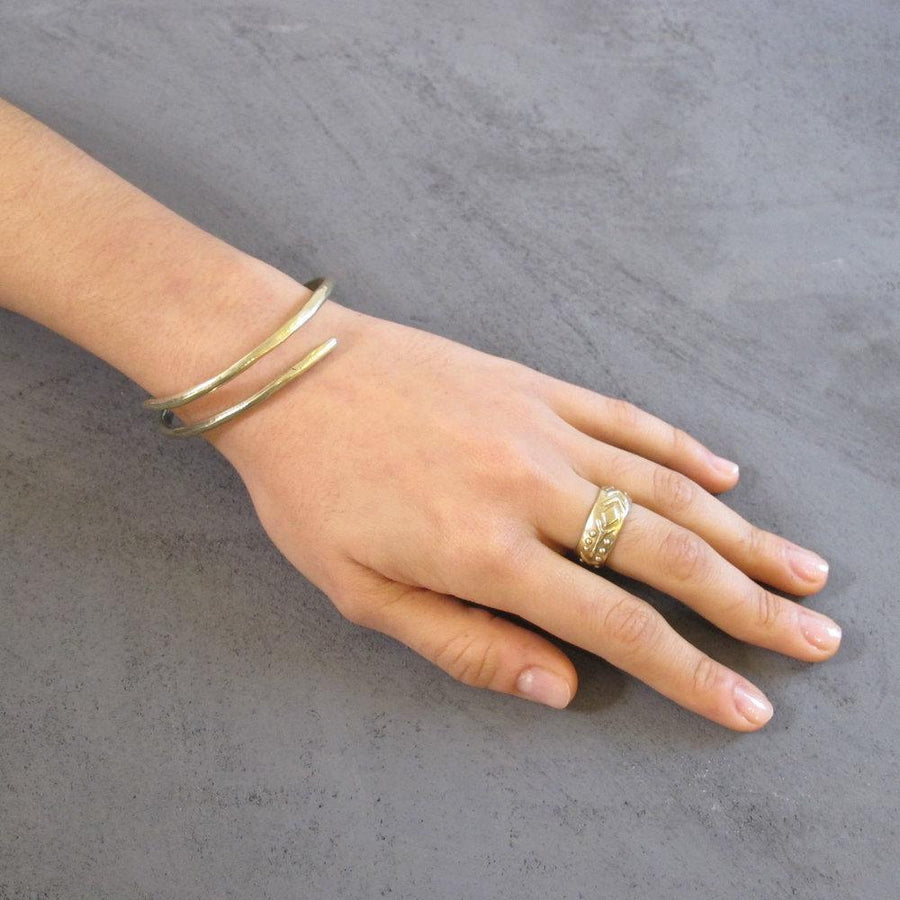 ETERNITY BANGLE Bracelets Brass,Sterling Silver Marisa Mason Jewelry