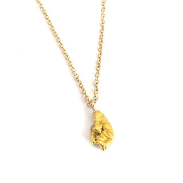 GOLD NUGGET NECKLACE Fine Marisa Mason Jewelry