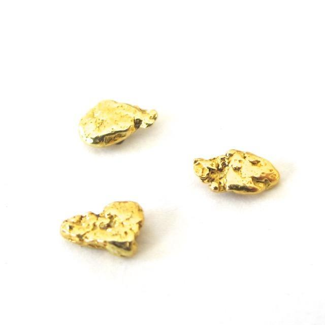 GOLD NUGGET STUD Fine earrings Pair Marisa Mason Jewelry