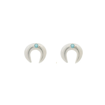 HORSESHOE STUDS Fine Earrings Sterling Silver, Sterling Silver with turquoise points, Gold,  Gold with Diamonds, Gold with Turquoise Marisa Mason Jewelry