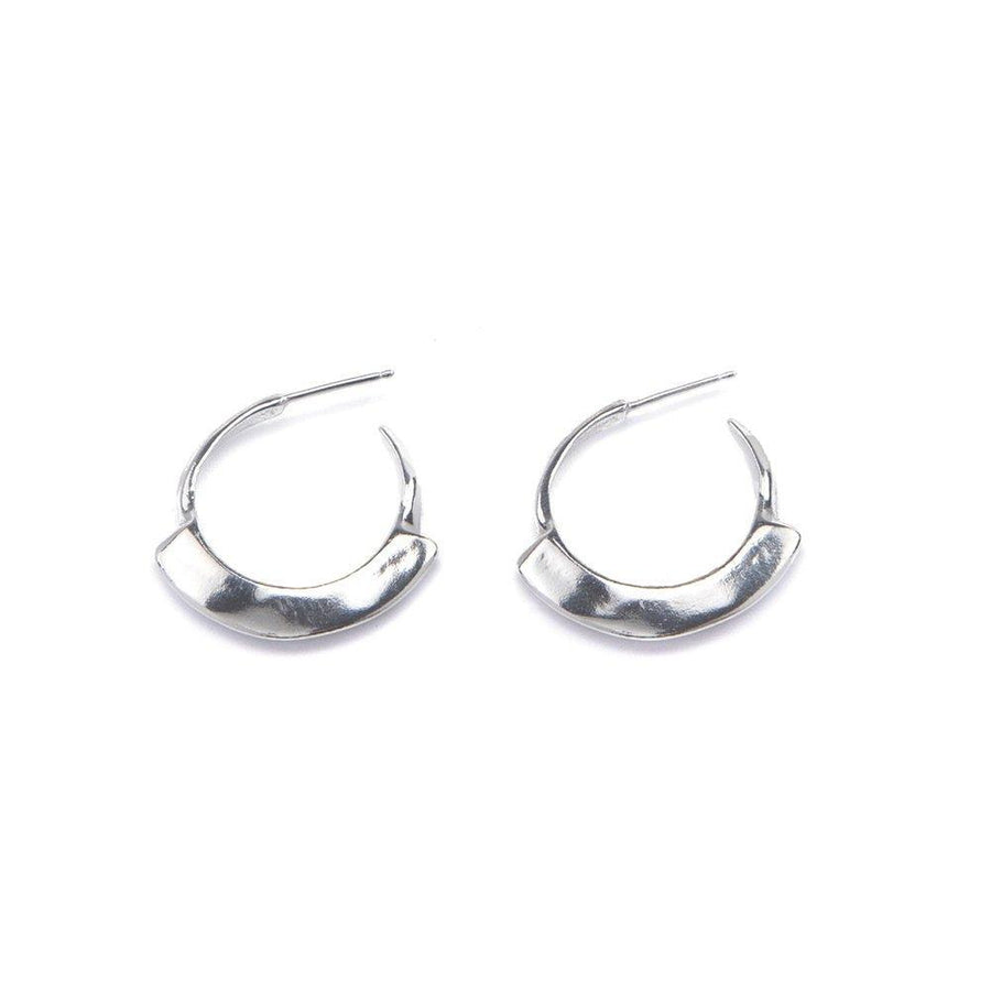 HYDRA HOOP Earrings Brass with sterling silver,Sterling Silver Marisa Mason Jewelry
