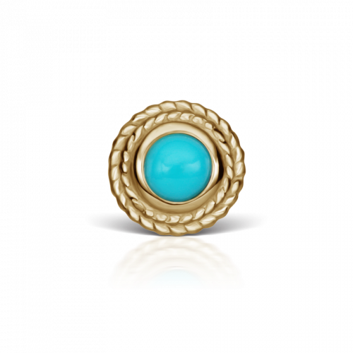 Thin Braid Turquoise Stud-Maria Tash-Single-Marisa Mason Jewelry