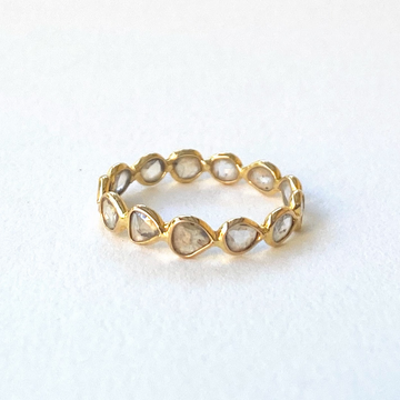 Diamond Slice band-Indian Gold-Marisa Mason Jewelry