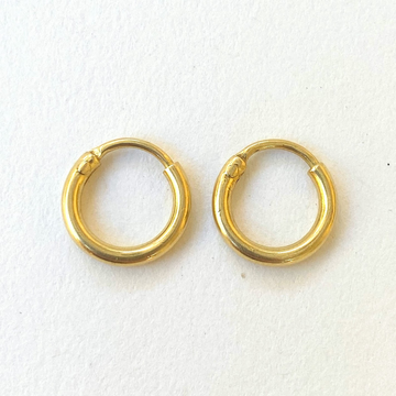 Forever Gold Hoops-Indian Gold-Marisa Mason Jewelry