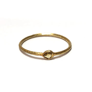 Diamond slice ring round-Indian Gold-Marisa Mason Jewelry