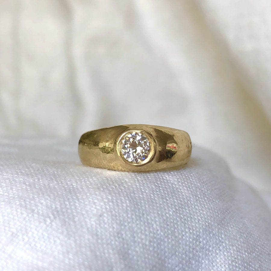 INEZ RING Rings gold 14k diamond Marisa Mason Jewelry