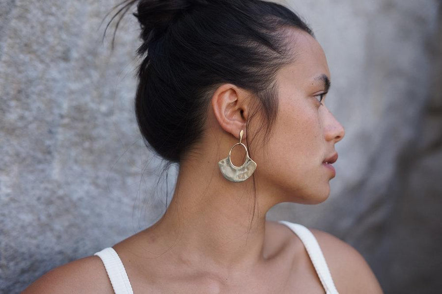 LINA Earrings Brass,Sterling Silver Marisa Mason Jewelry