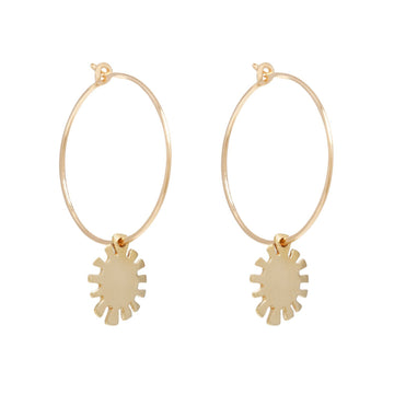 LITTLE SUN HOOPS Earrings Brass on gold fill,Sterling silver Marisa Mason Jewelry