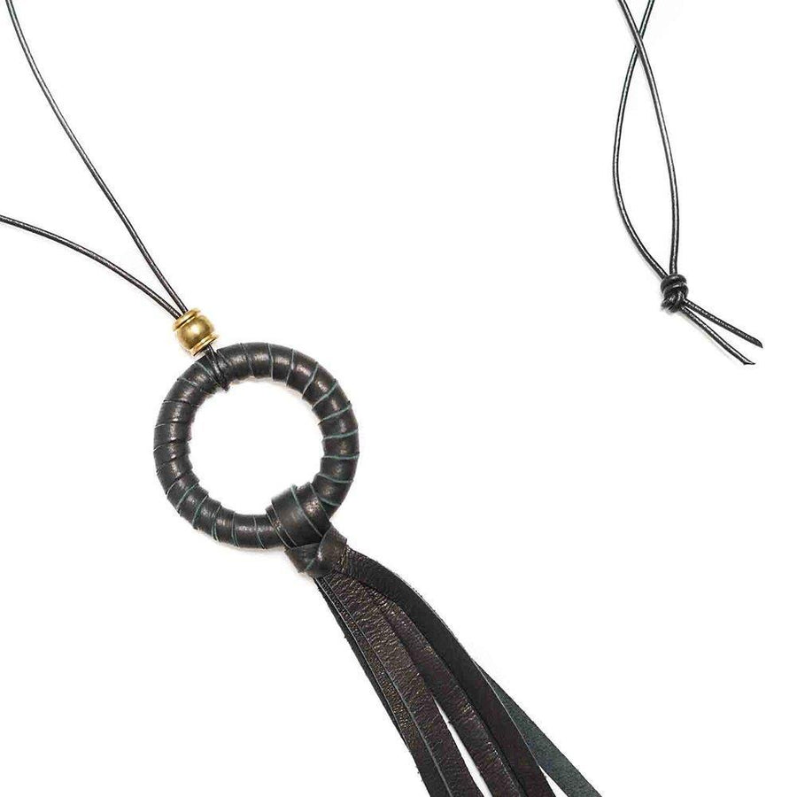 LUBBOCK Necklaces Black,Tan Marisa Mason Jewelry