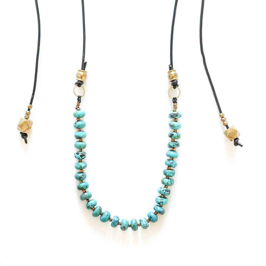 MOJAVE Necklaces Turquoise, Leather Marisa Mason Jewelry