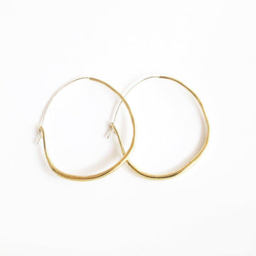 NATURAL HOOPS Medium Earrings Brass,Sterling Silver Marisa Mason Jewelry