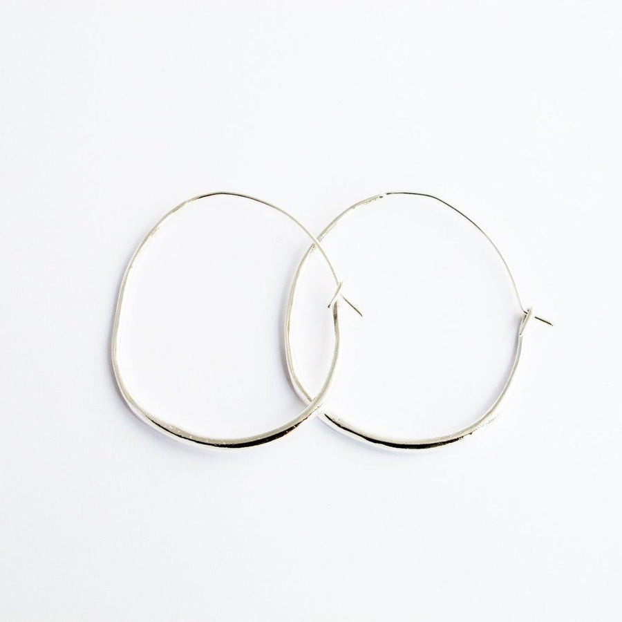 NATURAL HOOPS Medium Earrings Brass, Sterling Silver Marisa Mason Jewelry