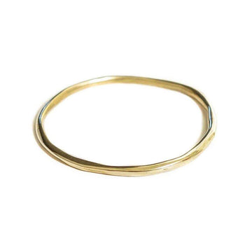 ORBIT BANGLE SKINNY Bracelets Brass, Sterling Silver Marisa Mason Jewelry