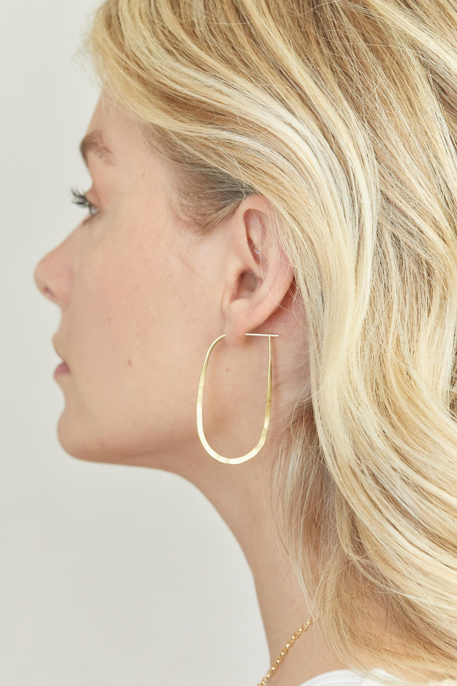 OVAL CLASSIC HOOPS Earrings Small / Brass,Small / Sterling Silver,Large / Brass,Large / Sterling Silver Marisa Mason Jewelry