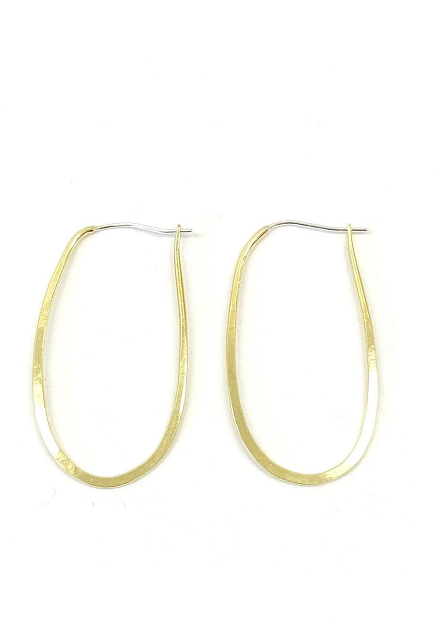 OVAL CLASSIC HOOPS Earrings Brass, Sterling Silver Marisa Mason Jewelry