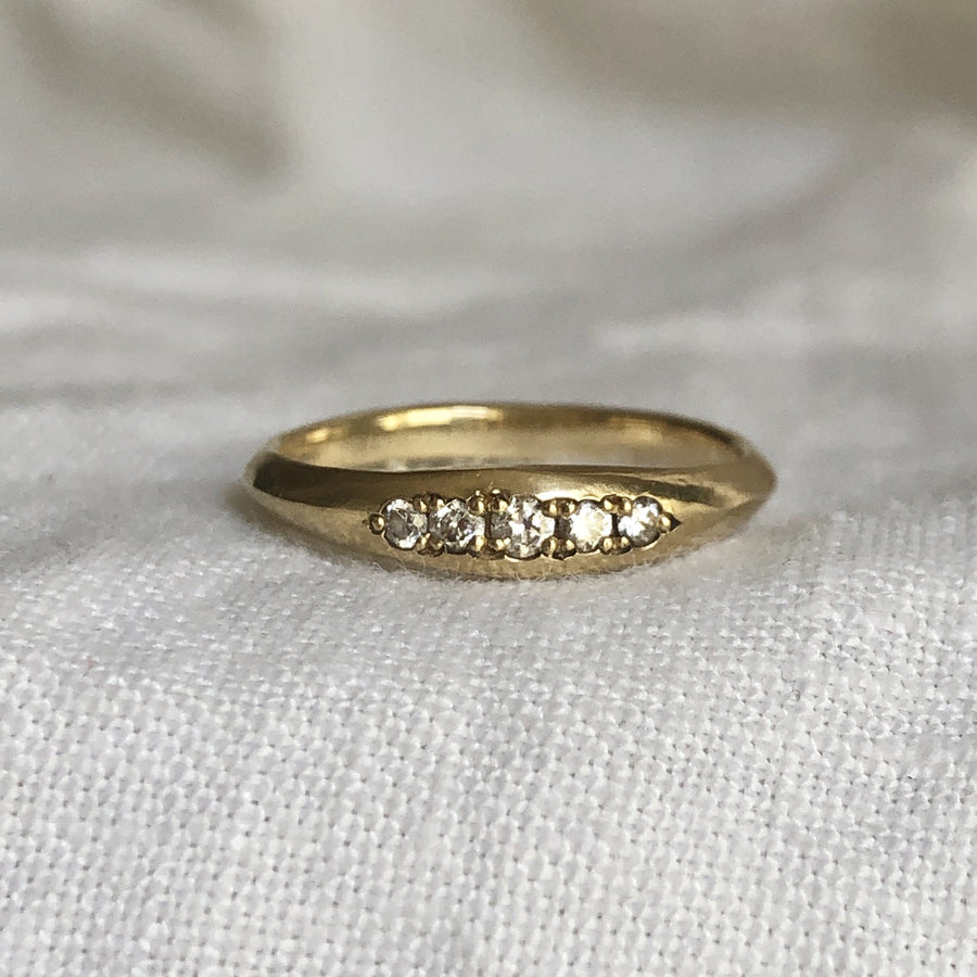 RIVULET BAND Rings 14k gold Marisa Mason Jewelry
