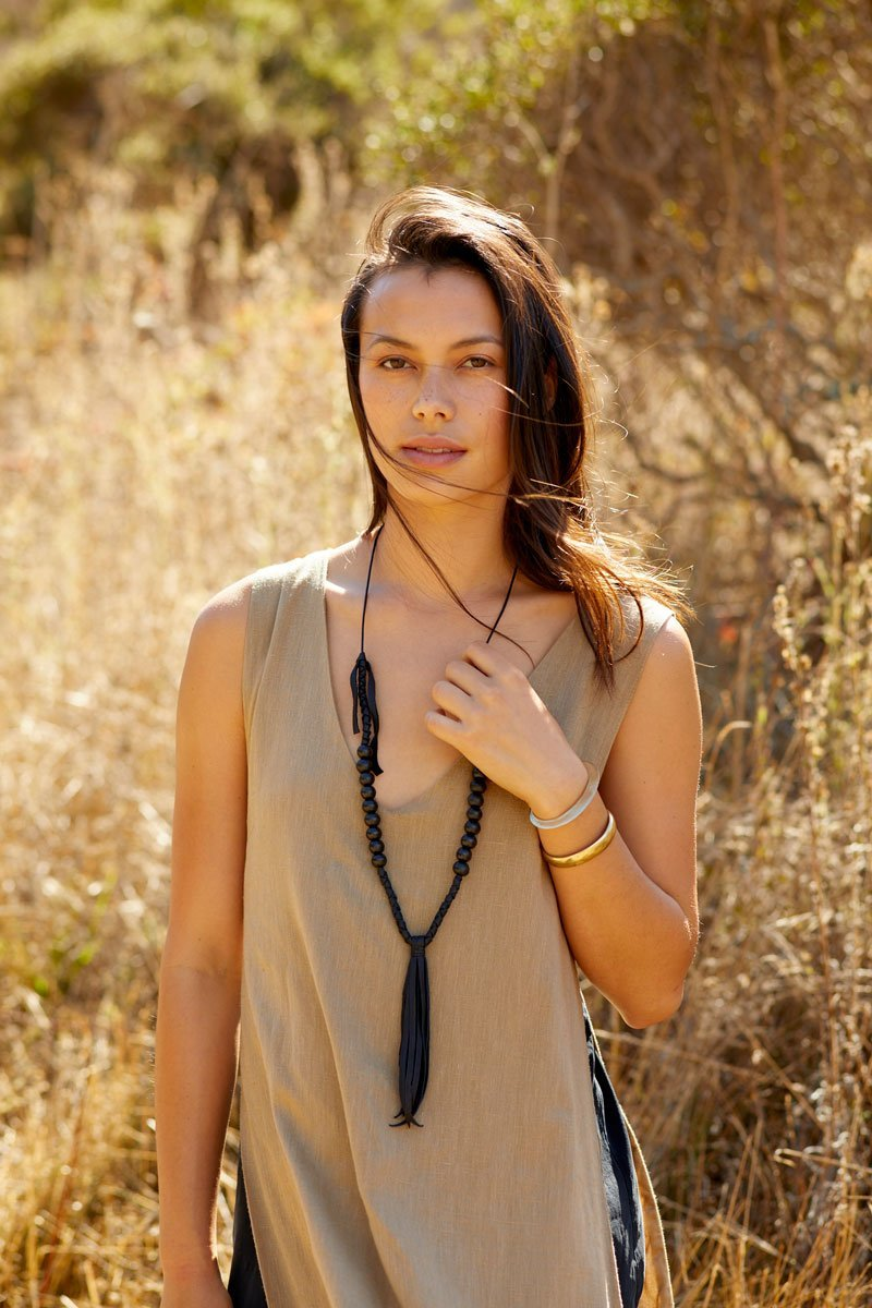 SANTOS Necklaces Black,Saddle Marisa Mason Jewelry