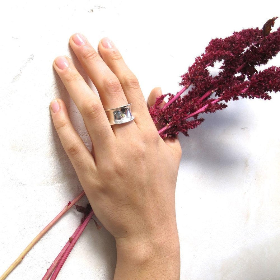 SOLARA Rings Brass, Sterling Silver Marisa Mason Jewelry