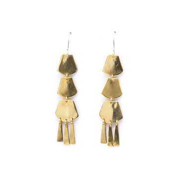 SOLSTICE Earrings Brass,Sterling Silver Marisa Mason Jewelry