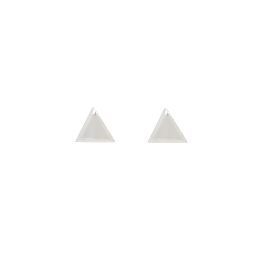 TRIANGLE STUDS Small Earrings Sterling Silver / Pair,Sterling Silver / Single,Sterling Silver with turquoise points / Pair,Sterling Silver with turquoise points / Single,Gold / Pair,Gold / Single,Gold with Diamonds / Pair,Gold with Diamonds / Single,Gold with Turquoise / Pair,Gold with Turquoise / Single Marisa Mason Jewelry