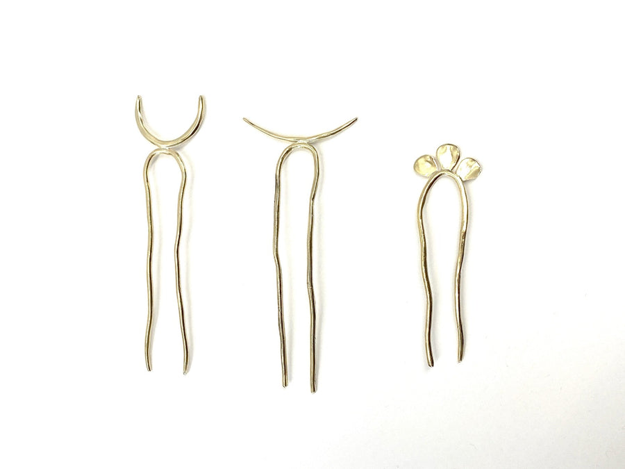 WHISPER Hair pins Brass,Sterling silver Marisa Mason Jewelry