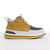 Men's KO-Z CHUKKA yellow white and grey desert boot lateral view