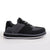 Men's KO-Z SPORT Low sheepskin lace up sneaker slipper black grey lateral view