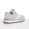 Men's KO-Z SPORT Low sheepskin lace up sneaker slipper white light grey rear view
