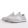 Men's KO-Z SPORT Low sheepskin lace up sneaker slipper white light grey pair with toes facing left