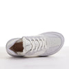 Men's KO-Z SPORT Low sheepskin lace up sneaker slipper white light grey top view