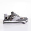 Men's KO-Z SPORT Low sheepskin lace up sneaker slipper light grey camo lateral view
