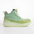 Women's KO-Z CHUKKA Wedge lime green sheepskin suede desert boot lateral side